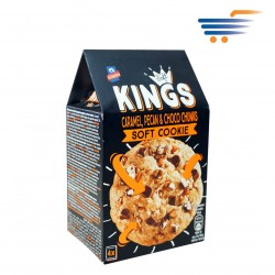 ALLATINI KINGS SOFT COOKIES CARAMEL, PECAN & CHOCO CHUNKS (4X45GR)