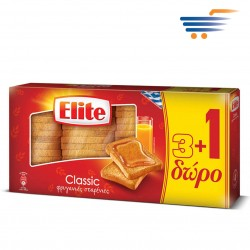 ELITE CLASSIC WHEAT RUSKS  3+1 OFFER  4X125GR