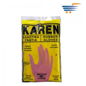 Vileda Robust Rubber Gloves Household Gloves with triple protection M